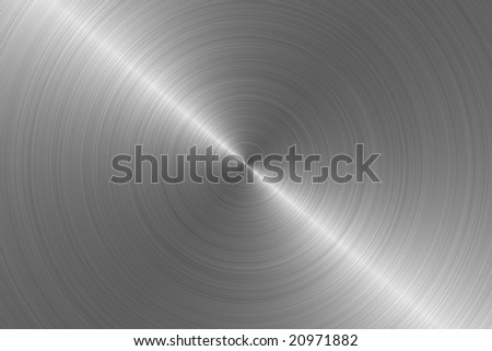 Brushed aluminum steel metal background circular pattern