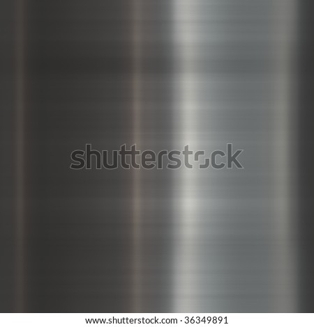 Brushed glossy metal surface, scratched texture background - stock photo