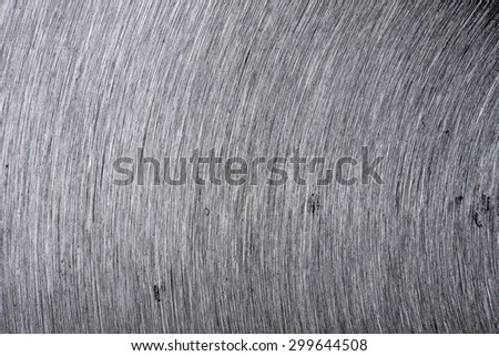 Brushed metal plate background. - stock photo
