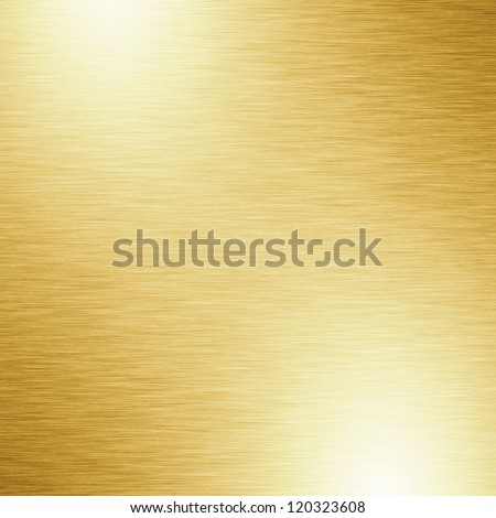 Brushed metal plate with reflected light - stock photo