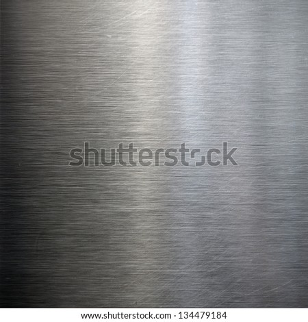 brushed metal texture ; abstract industrial background - stock photo