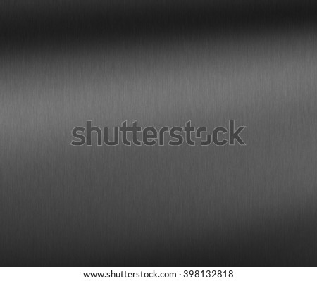 Brushed metal texture background with abstract dark surface