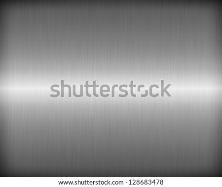 Brushed metal texture for background - stock photo