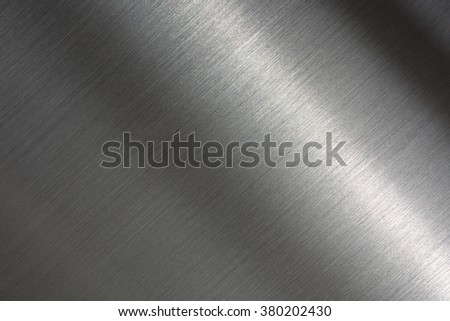 brushed metal. Tough metal. Intense highlight.  - stock photo