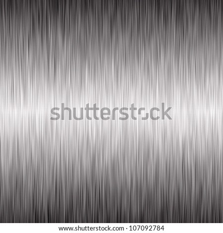 Brushed silver metallic background - stock photo