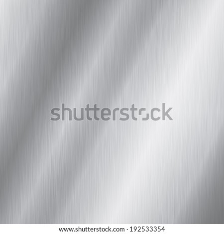 Brushed steel plate texture with reflections - stock photo