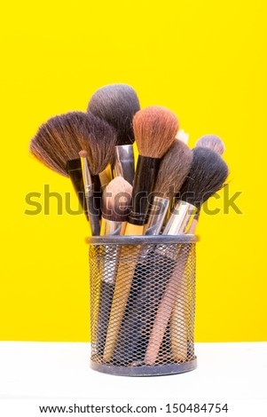 brushes for makeup isolated