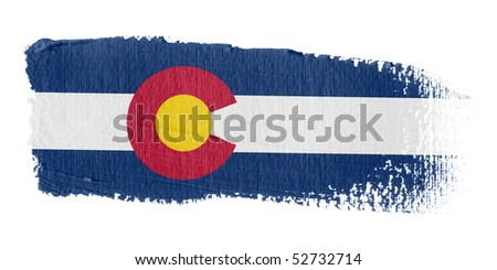 Brushstroke Flag