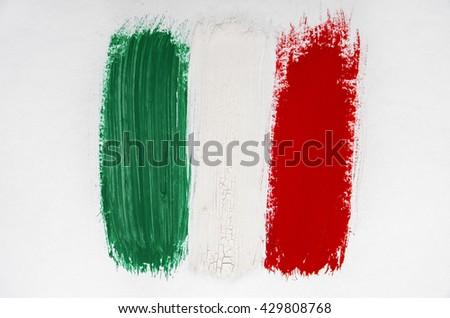 Brushstroke Flag Italy - stock photo