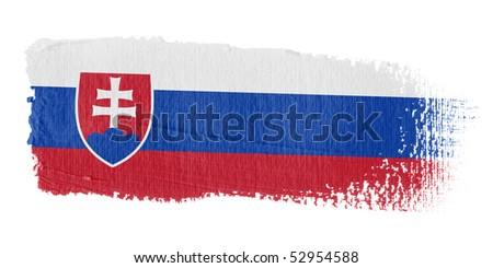 Brushstroke Flag Slovakia - stock photo