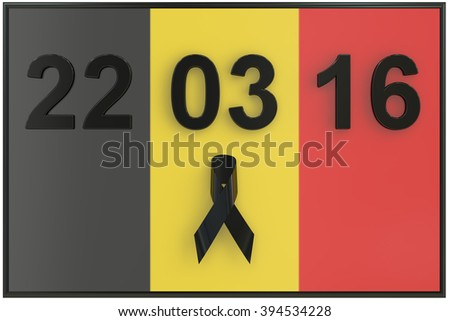 Brussels attacks March 2016 concept - stock photo
