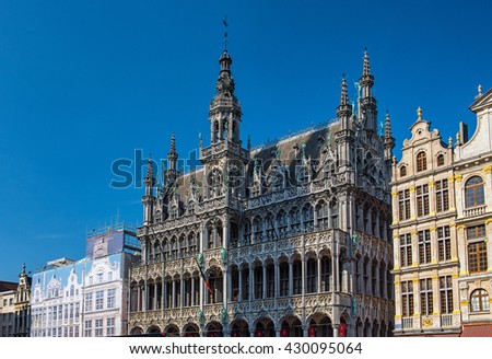 BRUSSELS, BELGIUM - 24 APRIL, 2016: The famous Grand Place in Brussels, Belgium on 24 April, 2016.