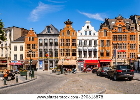 BRUSSELS, BELGIUM - JUNE 4, 2015: Architecture of Brussels, Belgium. Brussels is the capital and largest city of Belgium and the capital of the European Union - stock photo
