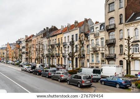 BRUSSELS, BELGIUM - MAY 3, 2015: Architecture of Brussels, Belgium. Brussels is the capital and largest city of Belgium and the capital of the European Union - stock photo