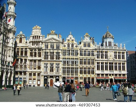 Brussels, Belgium, 4 May, 2016. Grand Place in Brussels, Belgium on 4 May, 2016.