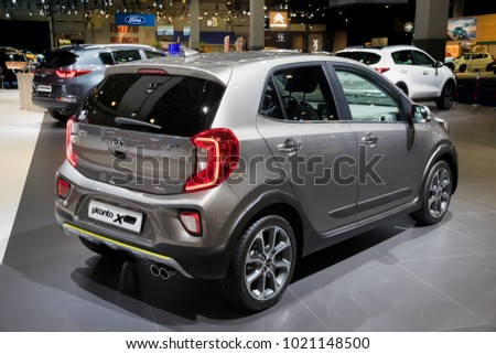 BRUSSELS - JAN 10, 2018: Kia Picanto X-Line car shown at the Brussels Motor Show.