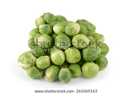 brussels sprout white background