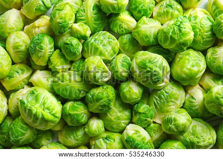Brussels sprouts background
