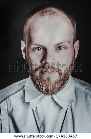 Brutal man with a beard