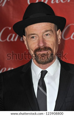 Bryan Cranston at the Awards Gala for the 2013 Palm Springs International Film Festival. January 5, 2013  Palm Springs, CA Picture: Paul Smith - stock photo