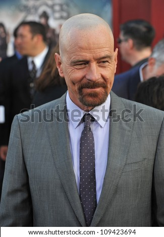 """Bryan Cranston at the world premiere of his new movie """"Rock of Ages"""" at Grauman's Chinese Theatre, Hollywood. June 9, 2012  Los Angeles, CA Picture: Paul Smith / Featureflash - stock photo"""