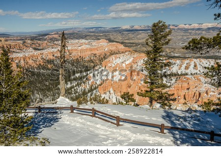 Bryce Amphitheater from Bryce Point in Bryce Canyon National Park - stock photo