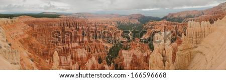 Bryce Canyon amphitheater panorama west USA utah 2013 - stock photo