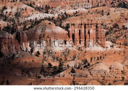 Bryce Canyon Closeup, USA - stock photo
