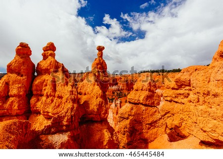 Bryce Canyon is a collection of natural amphitheaters aside of the Paunsaugunt Plateau. Bryce is distinctive due to geological structures called hoodoos, formed by frost weathering and stream erosion.