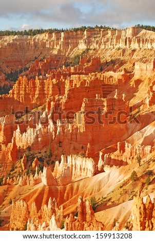 Bryce Canyon National Park in Utah at sunrise overlook. - stock photo