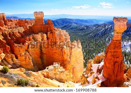 Bryce Canyon National Park landscape, US - stock photo