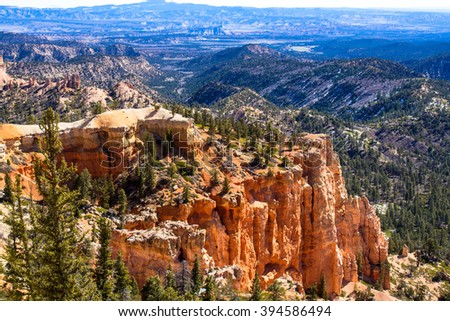 Bryce Canyon National Park with Grand Staircase-Escalante National Monument in background