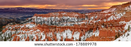 Bryce Canyon - US National Park . First designated as National Monument on June 8, 1923 - stock photo