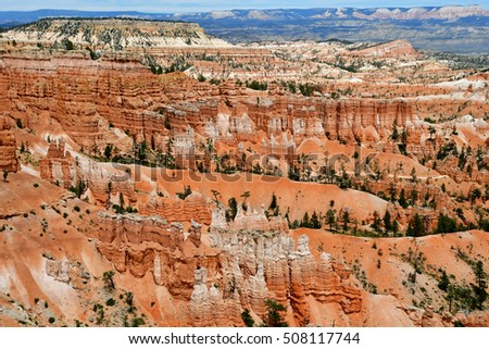 Bryce Canyon, USA - july 9 2016 : the National Park