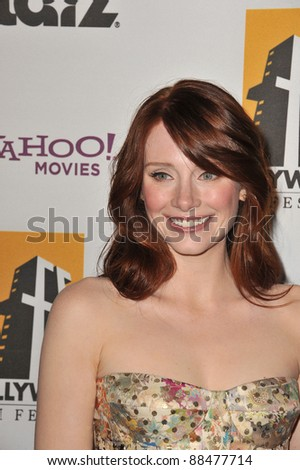 Bryce Dallas Howard at the 14th Annual Hollywood Awards Gala at the Beverly Hilton Hotel. October 25, 2010  Beverly Hills, CA Picture: Paul Smith / Featureflash