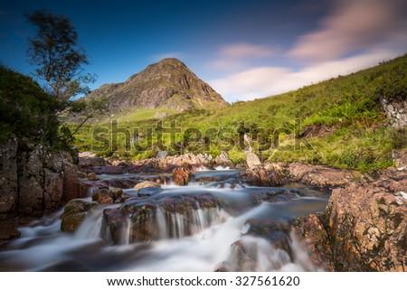 Buachaille Etive Beag, Glencoe, Scotland - stock photo