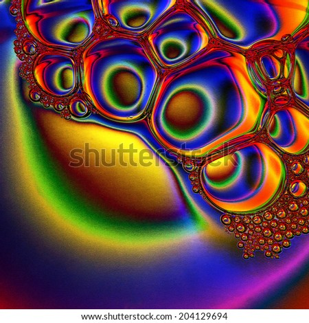 Bubble abstract background: Photo illustration - stock photo
