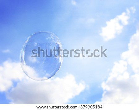 Bubble Air Freedom Space Playful Sky Calm Relax Concept - stock photo