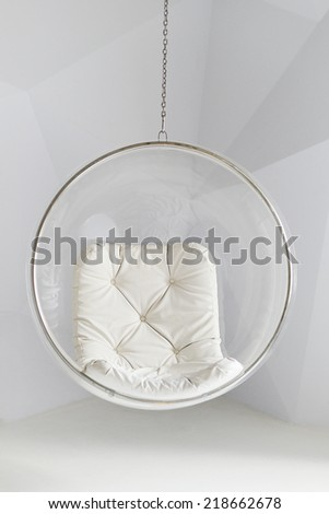 Bubble chair against a white background  - stock photo