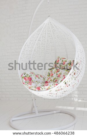Bubble chair against a white background
