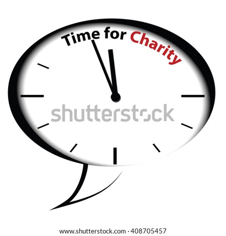 Bubble chat clock - Time for Charity icon