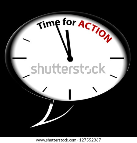"Bubble Clock ""Time for action"""