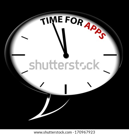 "Bubble Clock ""Time for APPS"""
