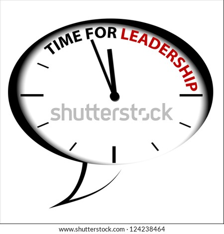"Bubble Clock ""Time for leadership"""