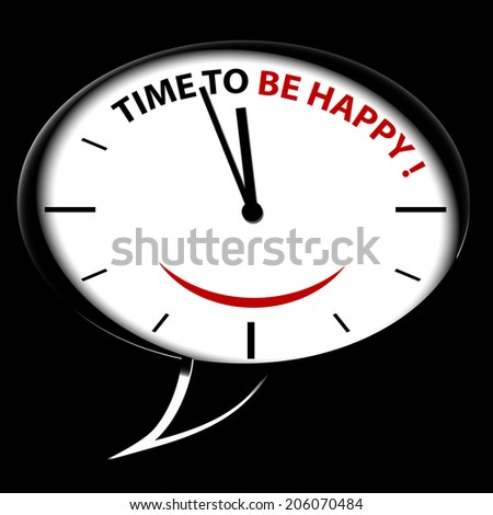 "Bubble Clock ""Time to be HAPPY!"""
