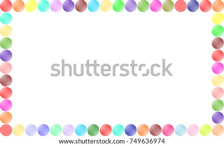 Bubble Colorful Page Border Stock Illustration 749636953 Colorful Page Border