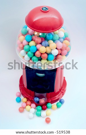 Bubble gum machine - stock photo