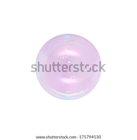 bubble isolated on white background - stock photo