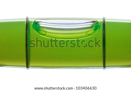 Bubble of the meter level isolated on white background - stock photo