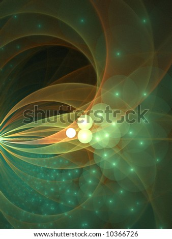 Bubble Orbs Swarm And Arc - fractal design - stock photo